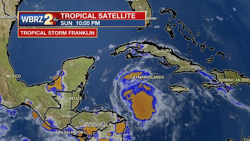 It Is Important To Note That Tropical Storm Franklin Is Not A Threat To The U S Mainland Or Louisiana