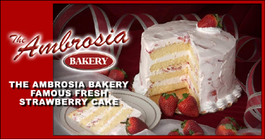 Ambrosia Strawberry Cake