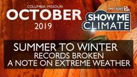 October 2019: Third snowiest and sixteenth coldest in Columbia despite record warmth early on