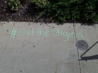 Story image: Local church raises mental health awareness with chalk