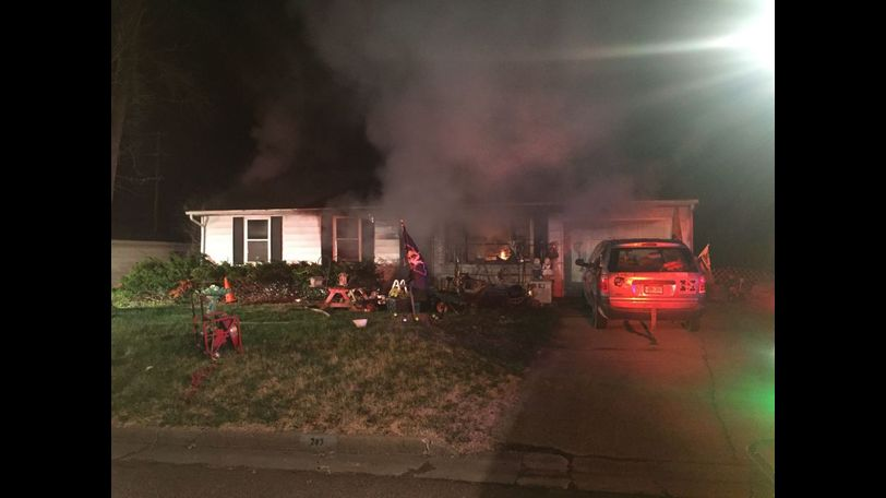 Reporter Nick Yahl took this photo of the scene as the home was still smoldering.