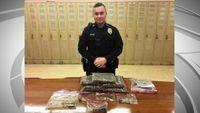 Man arrested after police find five large bags of marijuana