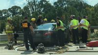 Teenage girl pulled from crashed vehicle on I-10, transported in critical condition