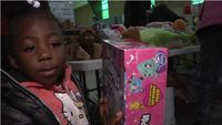 Local non-profit organization hands out toys, food to those in need
