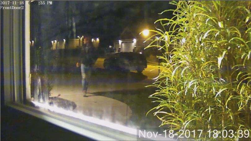 A neighbor of the Thornbrook neighborhood in southwest Columbia provided video of someone taking a package. This is a screenshot from the video.