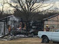 Fire in rural Boone County destroys garage