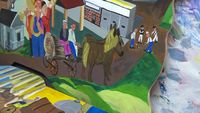 Bicentennial mural completes painting in Coopers Landing