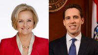 McCaskill and Hawley promote campaigns in Columbia