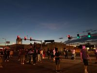 Columbia protests continue into Monday night, stores block entrances