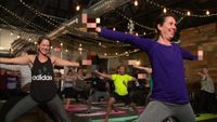 Dozens attend first ever rage yoga class, which includes cursing and alcohol