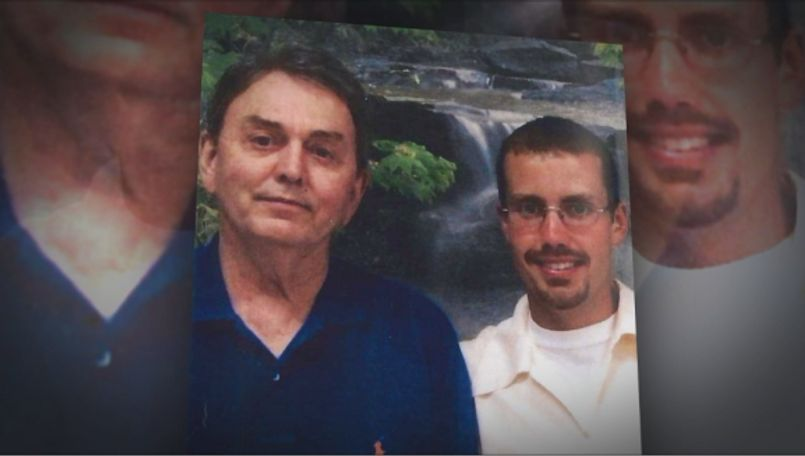 Grandfather Bill Lindley (on the left) and inmate Joshua Wolf (on the right) who is currently serving life in prison without the possibility of parole.