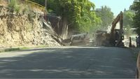 Collapsing retaining wall in Jefferson City prompts road closures