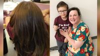 6-year-old boy grows out his hair for 2 years, donates 14 inches to kids in need