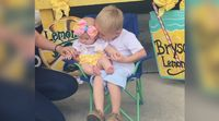 Older brother makes sweet gesture days before sister's open heart surgery