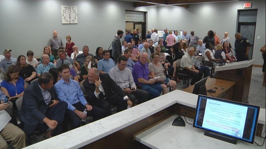 Environmentalists and West Baton Rouge Parish residents fill parish council cham...