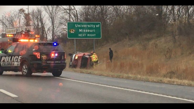 Traffic was delayed pm Hwy 63 southbound near the Broadway exit due to an overturned car.
