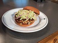 Galatoire's Bistro: Salmon burgers with avocado aioli
