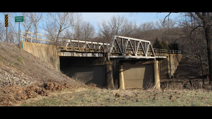 Crooked Creek Bridge on Missouri Route 19 in Crawford County will be replaced with a new bridge in 2017. Photo courtesy of MoDOT.