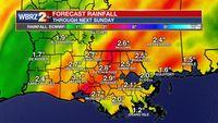 Stalled system to bring locally heavy rain through next weekend