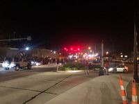 Protesters block off Broadway and Providence early Monday morning