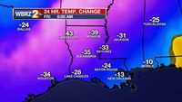 Impressive temperature drop to end the week