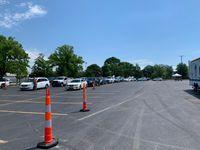 Hundreds go through drive-thru, COVID-19 testing at Hickman High School
