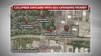 Target 8: Numerous sex offenders live near Columbia day care centers