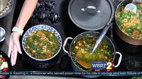 Chef of the Month: Bergeron's City Market Chicken sausage, navy bean and greens soup