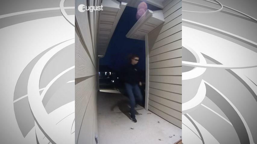 A neighbor of Columbia's Bellwood neighborhood provided KOMU 8 a video of someone taking a package. This is a screenshot of the video.