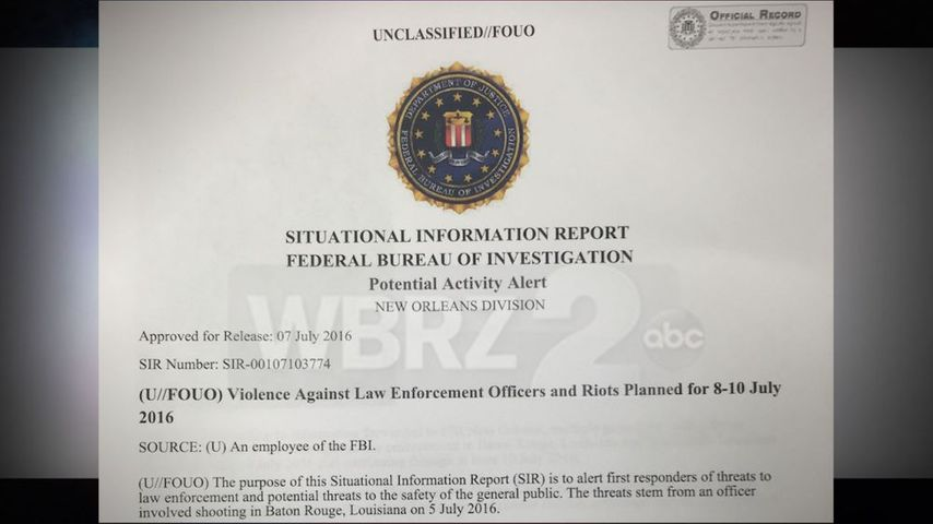FBI warns of safety concerns for public, law enforcement this weekend
