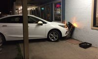 One hurt after vehicle crashes into restaurant on Coursey Blvd.
