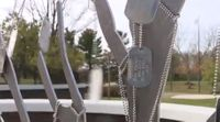Veteran hangs 22 dog tags on tree every day for mental health awareness