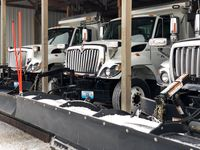 Story image: Road crews warn drivers to leave room for snow plows
