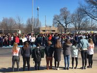 Students walkout at Hickman High School in solidarity with Florida