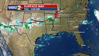 Storm system to the north turns area weather more active