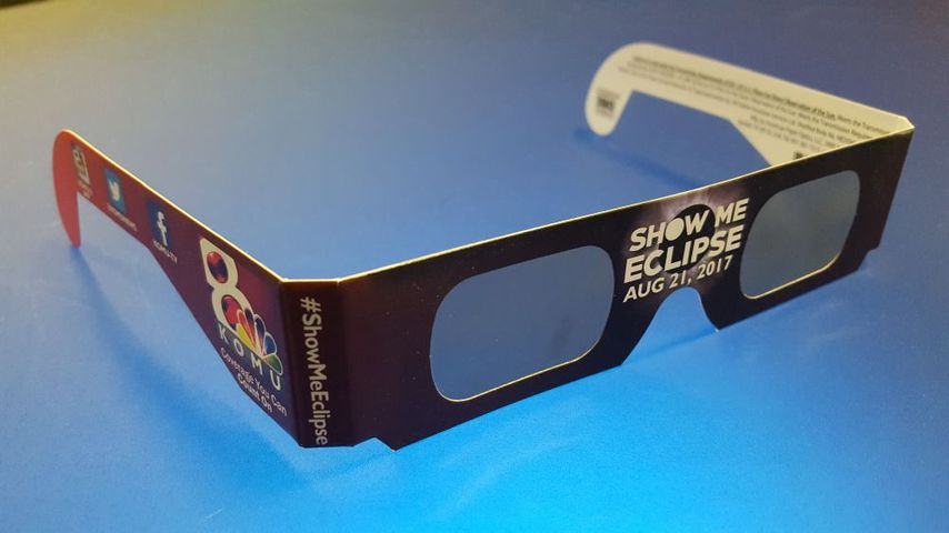 KOMU 8 Show Me Eclipse solar glasses