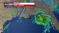 Michael's final approach to Florida, cold front moves through Wednesday