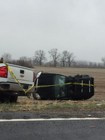 Two vehicles were in an accident on Hwy 94 in Mokane