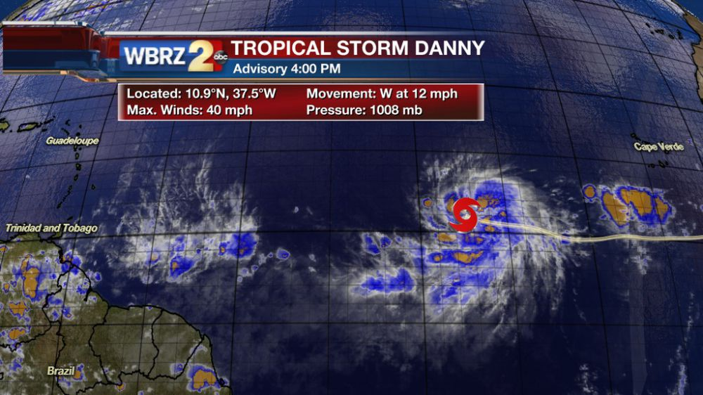 Tropical Storm Danny Forms In Atlantic WBRZ News 2 Louisiana Baton