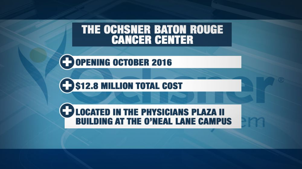 Ochsner announces new comprehensive cancer center in B R