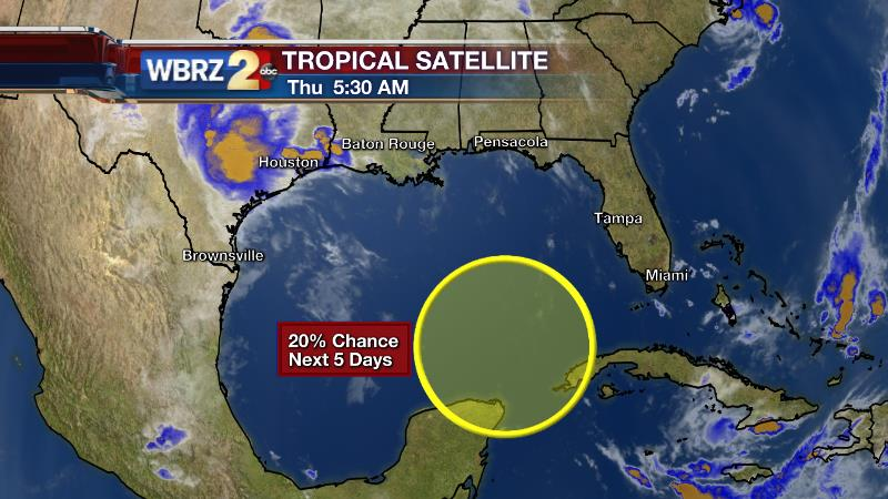Stormy days ahead, area to watch in the Gulf