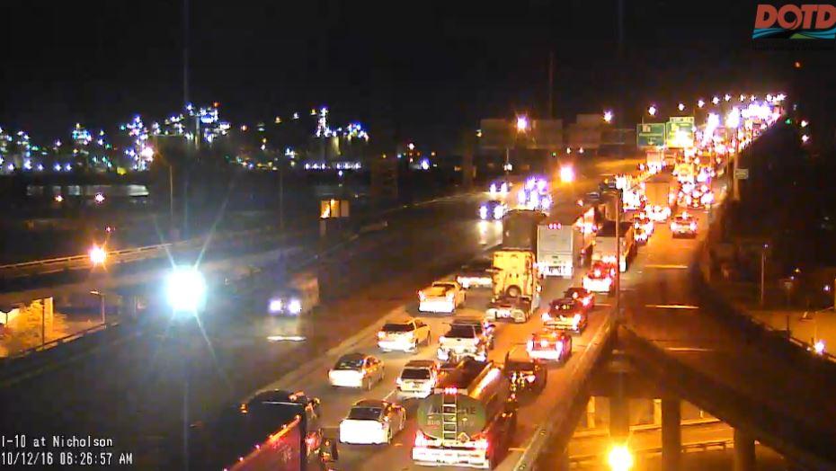 All lanes open on I-10 W on Miss  River Bridge - Baton Rouge