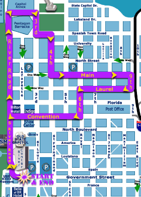 Saturday parade guide for downtown Baton Rouge