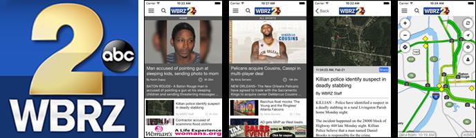 WBRZ News 2 Louisiana : Baton Rouge, LA   Apps