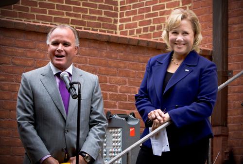 Paul Mainieri and U.S. Sen. Mary Landrieu