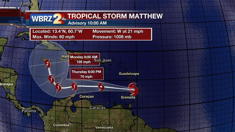 Tropical Storm Matthew forms