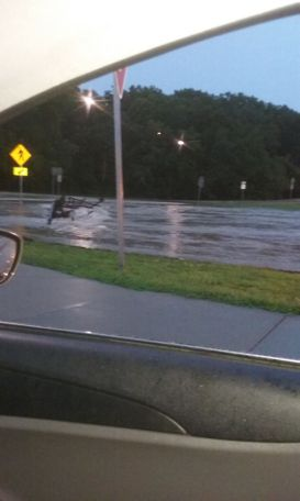 Another flooded road in Fulton, Missouri. Photo/Keisha Stevens.