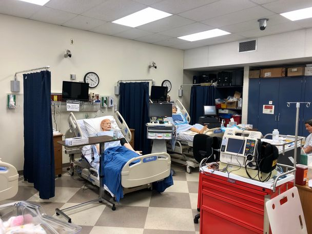 The simulation labs help nursing students get hands-on experience.