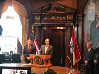 Story image: Missouri Democrats sue over lt. governor appointment