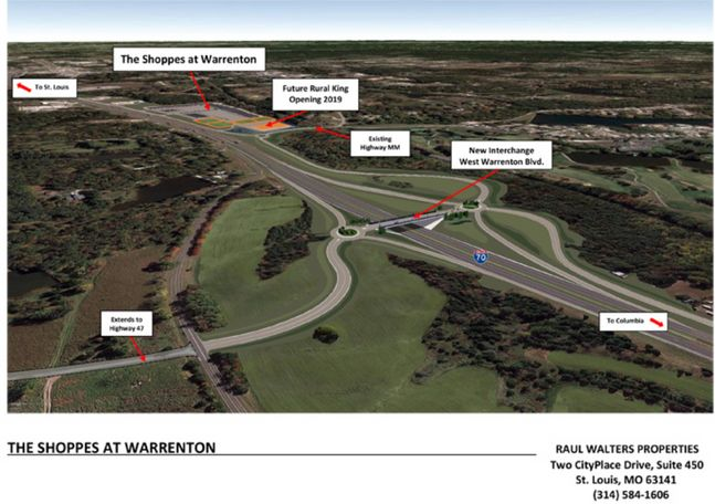 Here's what the new Interchange looks like along I-70 in Warrenton.